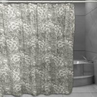 Floral Sketch Shower Curtain in Grey