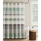 KAS Seneca Stripe Shower Curtain in Light Green
