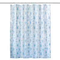 Sea Turtle Shower Curtain in Mint