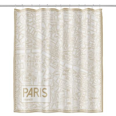 Paris Map Shower Curtain
