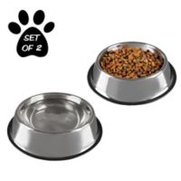 PETMAKER 32 oz. Stainless Steel Pet Bowls (Set of 2)