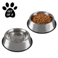 PETMAKER 64 oz. Stainless Steel Pet Bowls (Set of 2)
