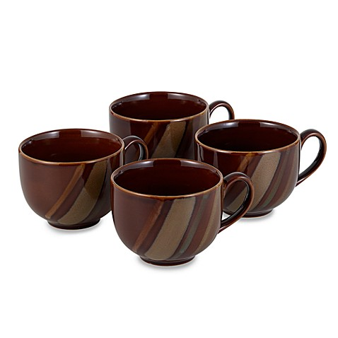Sango® Avanti 18 oz. Jumbo Mugs in Brown (Set of ...  sc 1 st  Bed Bath u0026 Beyond & Sango® Avanti 18 oz. Jumbo Mugs in Brown (Set of 4) - Bed Bath u0026 Beyond