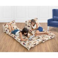 Sweet Jojo Designs Wild West Cowboy Print Floor Pillow Lounger Cover