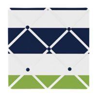 Sweet Jojo Designs Navy and Lime Stripe Memo Board