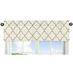 Sweet Jojo Designs Trellis Window Valance in Gold/White