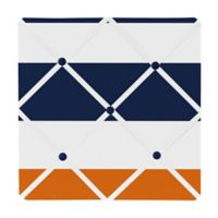Sweet Jojo Designs Navy and Orange Stripe Memo Board