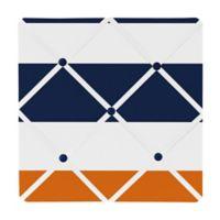 Sweet Jojo Designs Navy and Orange Stripe Memo Board
