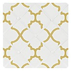 Sweet Jojo Designs Trellis Memo Board in White/Gold