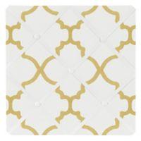 Sweet Jojo Designs Trellis Memo Board in White/Gold