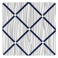 Sweet Jojo Designs Woodsy Fabric Memo Board in Navy/Grey