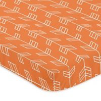 Sweet Jojo Designs Arrow Mini-Crib Sheet in Orange