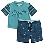 Sovereign Code™ Size 12M 2-Piece Paradise Palms Rashguard Set