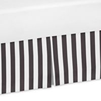 Sweet Jojo Designs Paris Striped Crib Skirt in Black/White