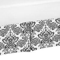 Sweet Jojo Designs Sophia Damask Print Crib Skirt in Black/White