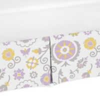 Sweet Jojo Designs Suzanna Crib Skirt in Lavender/White