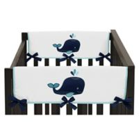 Sweet Jojo Designs Whale Short Rail Guards in Blue/Turquoise (Set of 2)