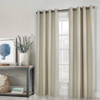 Thermaplus Belize 96-Inch Grommet Window Curtain Panel Pair in Ivory