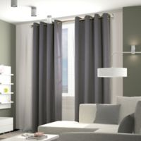 Thermaplus Belize 84-Inch Grommet Window Curtain Panel Pair in Alloy Grey