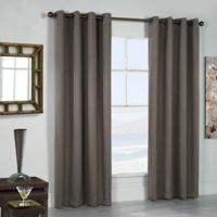 Thermaplus Belize 96-Inch Grommet Window Curtain Panel Pair in Taupe