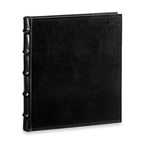 Black Leather Book Bound 5-Foot-Foot x 7-Foot-Foot Photo Album