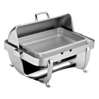 Octave 9 qt. Stainless Steel Rectangular Chafer with Round Top Cover