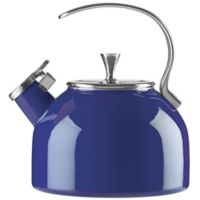kate spade new york All in Good Taste 2.5 qt. Enameled Stainless Steel Tea Kettle in Cobalt