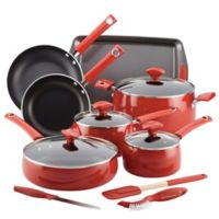 Rachael Ray™ Nonstick Porcelain Enamel 14-Piece Cookware Set in Cherry