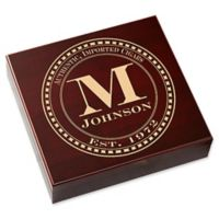 Gentleman's Seal Wood Cigar Humidor in Cherry