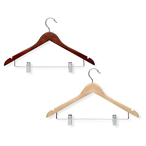 image of Honey-Can-Do® 15-Pack Wooden Suit Hangers