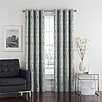 Twilight Ikat 84-Inch Grommet Room-Darkening Window Curtain Panel in Spa