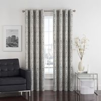 Twilight Ikat 95-Inch Grommet Room-Darkening Window Curtain Panel in Natural