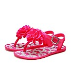 Stepping Stones Size 4 Flower and Butterfly Glitter Jelly Sandal in Fuchsia