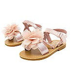 Stepping Stones Size 3-6M Side Braid with Flower Sandal in Blush