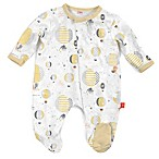 Magnetic Me by Magnificent Baby® Newborn Up In The Air Balloons Magnetic Footie in Yellow