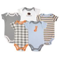 Luvable Friends® Size 18-24M 5-Pack Fox Bodysuits in Grey