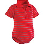 Under Armour® Size 3-6M Stripe Polo Bodysuit in Red/Grey