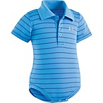 Under Armour® Size 9-12M Stripe Polo Bodysuit in Blue