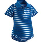 Under Armour® Size 0-3M Stripe Polo Bodysuit in Blue/Grey