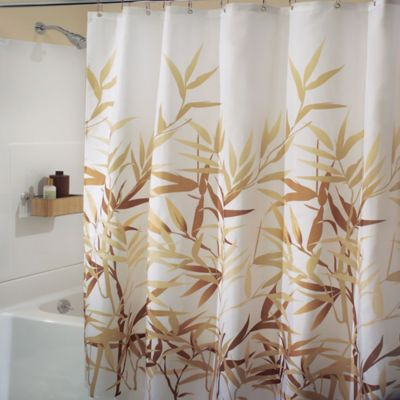 InterDesign Anzu 72 Inch X Shower Curtain In Brown