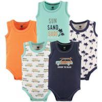 Hudson Baby® Size 3-6M 5-Pack Beach Sleeveless Bodysuits in Orange