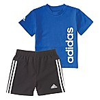 adidas® Size 18M 2-Piece Sidekick T-Shirt and Short Set in Royal Blue