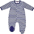 E=MC2 Newborn Magnetic Cars Footie in Blue
