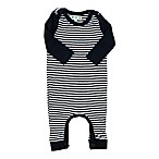 Coyote and Co. Size 0-3M Striped Romper in Navy