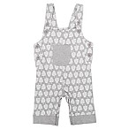 Coyote and Co. Size 3-6M Tree Overall in Grey/White