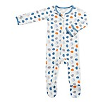 Bestaroo Size 0-3M Circles Footie in Blue