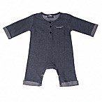 Troy James Size 0-3M Rolled Sleeve Coverall in Blue
