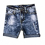 Troy James Size 3-6M Distressed Short in Blue