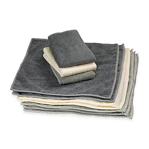 The Original Microfiber Cleaning Towels In 10 Pack Bed