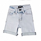 Troy James Size 0-3M Cuffed Washed Short in White